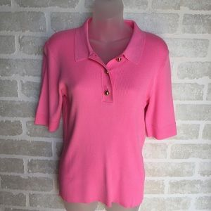 NWT Liz Claiborne pink medium women's sweater